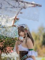 校园萌妹清纯可爱女生Enako女仆装户外高清写真