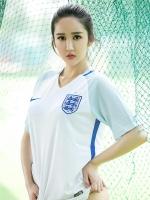 足球宝贝美女孙嘉言酥胸诱惑写真