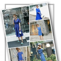 蓝色连衣裙配什么样的包包 蓝色连衣裙搭配什么颜色鞋子