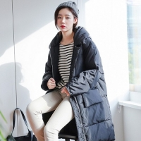2017韩版女棉衣外套棉服中长款搭配 气质修身 显瘦又显高