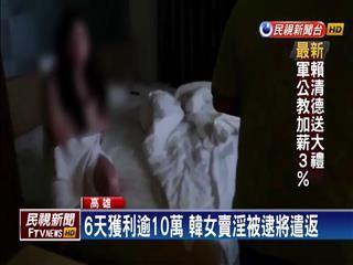 寻芳客哈韩  内衣模特儿卖淫被逮.