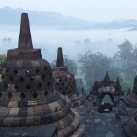 盘点令人惊叹的世界奇观 印度尼西亚爪哇婆羅浮屠的日出